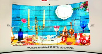 Global launch of World's Narrowest Bezel Video Wall by LG
