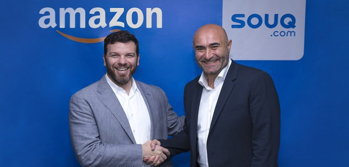 Russ Grandinetti, Amazon Senior Vice President, International Consumer and Ronaldo Mouchawar, CEO and Co-Founder SOUQ.com