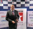 Tarek Helmy with the 'Data Centre Solutions Vendor of the Year' award_
