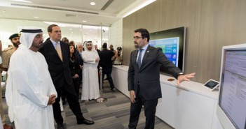 Osama Al Zoubi, CTO, Cisco ME demonstrates digital capabilities at Cisco's IXC Center