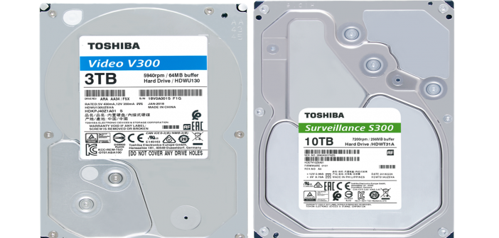 Toshiba releases new, surveillance and video streaming internal consumer hard drives S300 & V300