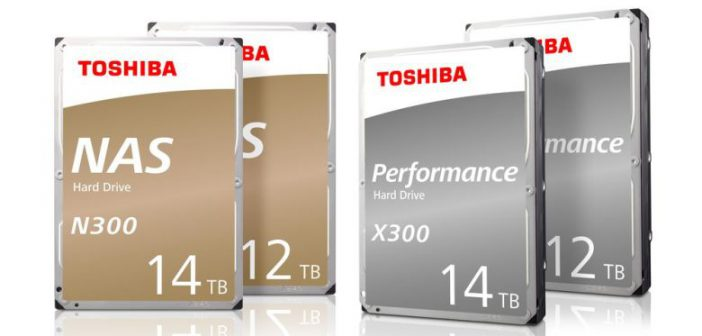 Toshiba brings 12TB and 14TB models to N300 NAS and X300 performance hard drives